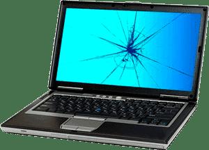 Ordinateur portable avec écran cassé